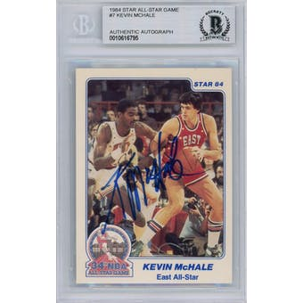 1984 Star All-Star Game #7 Kevin McHale Autograph BAS *6795 (Reed Buy)