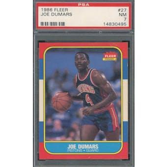 1986/87 Fleer #27 Joe Dumars RC PSA 7 *0495 (Reed Buy)