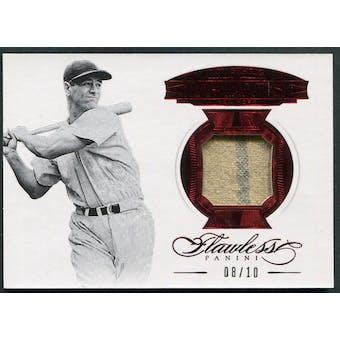 2017 Panini Flawless #MGLG Lou Gehrig Greats Ruby Jersey #08/10