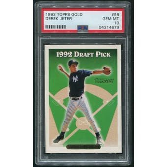 1993 Topps Baseball #98 Derek Jeter Gold Rookie PSA 10 (GEM MT)