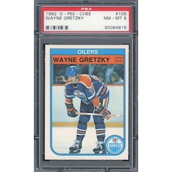 1982/83 O-Pee-Chee Hockey #106 Wayne Gretzky PSA 8 *4816 (Reed Buy)