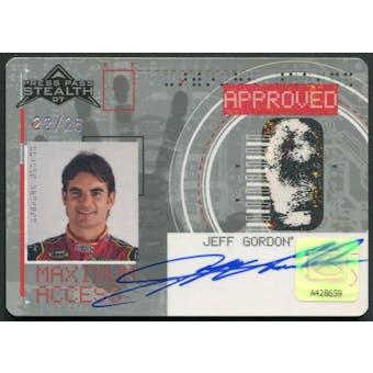 2007 Press Pass Stealth #MA8 Jeff Gordon Maximum Access Auto #22/25