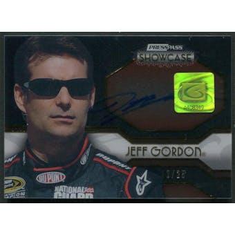 2010 Press Pass Showcase #EEIJG Jeff Gordon Elite Exhibit Ink Gold Auto #12/25