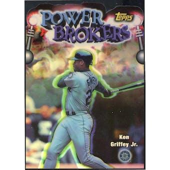 1998 Topps Power Brokers Refractor #PB3 Ken Griffey Jr. (Reed Buy)
