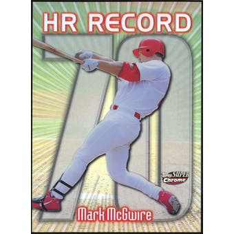 1999 Topps Superchrome Refractors #34 Mark McGwire HR 70 (Reed Buy)