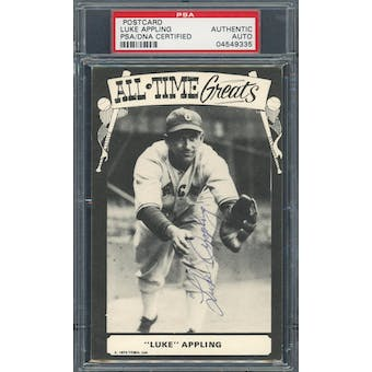 Luke Appling Autographed All Time Greats Postcard PSA/DNA Authentic Auto*9335 (Reed Buy)
