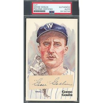 Goose Goslin Cut Autograph Perez-Steele HOF Postcard PSA/DNA Authentic *0744 (Reed Buy)