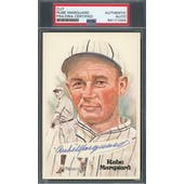 Rube Marquard Cut Autograph Perez-Steele HOF Postcard PSA/DNA Authentic *1004 (Reed Buy)