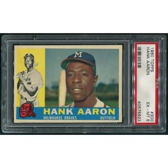 1960 Topps Baseball #300 Hank Aaron PSA 6 (EX-MT)