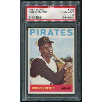 1964 Topps Baseball #440 Roberto Clemente PSA 8 (NM-MT)