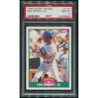 1989 Score Rookie Traded Baseball #100T Ken Griffey Jr. Rookie PSA 10 (GEM MT)