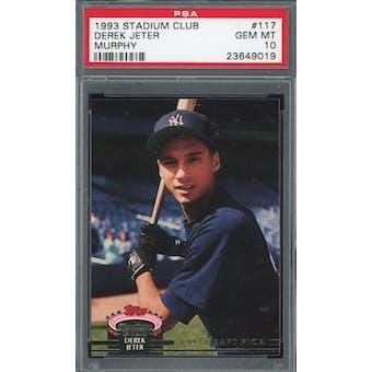 1993 Stadium Club Baseball #117 Derek Jeter RC PSA 10 *9019 (Reed Buy)