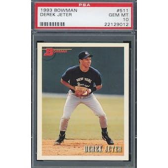 1993 Bowman Baseball #511 Derek Jeter RC PSA 10 *9012 (Reed Buy)