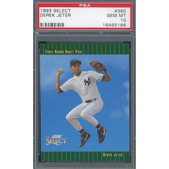 1993 Select Baseball #360 Derek Jeter RC PSA 10 *5166 (Reed Buy)