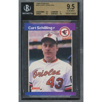 1989 Donruss #635 Curt Schilling BGS 9.5 *8459 (Reed Buy)