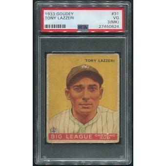 1933 Goudey Baseball #31 Tony Lazzeri Rookie PSA 3 (VG) (MK)