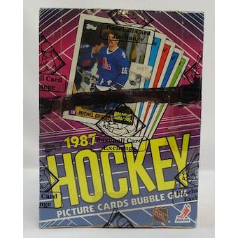 1987/88 Topps Hockey Wax Box X-Out BBCE (Reed Buy)