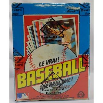 1982 O-Pee-Chee Baseball Wax Box BBCE (Reed Buy)