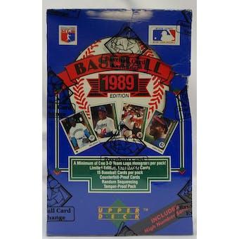 1989 Upper Deck High Series Baseball Hobby Box BBCE (Reed Buy)