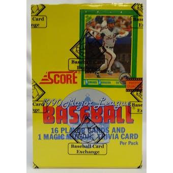 1990 Score Baseball Hobby Box BBCE FASC (Reed Buy)