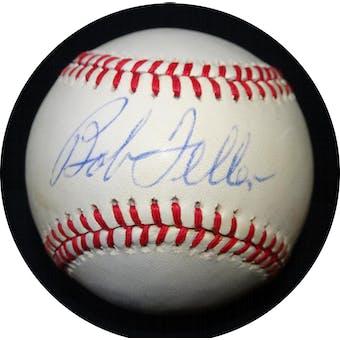 Bob Feller Autographed AL Brown Baseball RR92931 (Reed Buy)