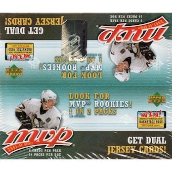 2007/08 Upper Deck MVP Hockey 24-Pack Box