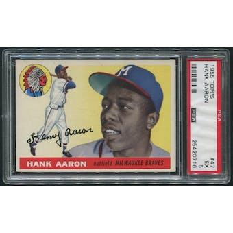 1955 Topps Baseball #47 Hank Aaron PSA 5 (EX)