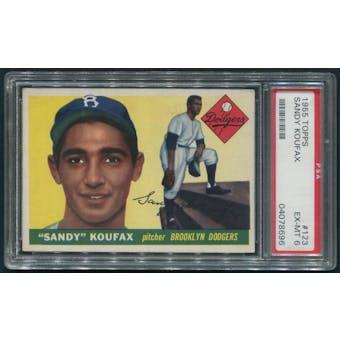1955 Topps Baseball #123 Sandy Koufax Rookie PSA 6 (EX-MT)