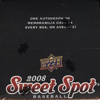 2008 Upper Deck Sweet Spot Baseball Hobby Box