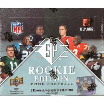 2008 Upper Deck SP Rookie Edition Football Hobby Box