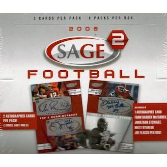 2008 Sage Squared Football Hobby Box