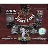 2008 Upper Deck Timeline Baseball Hobby Box