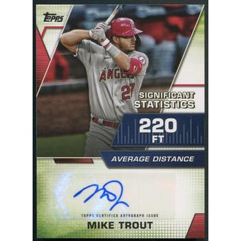 2021 Topps #SSAMT Mike Trout Significant Statistics Auto #23/25