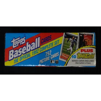 1992 Topps Baseball Factory Set (w/pre-production cards) (Reed Buy)