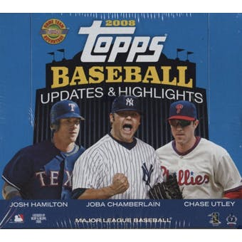 2008 Topps Updates & Highlights Baseball Jumbo Box