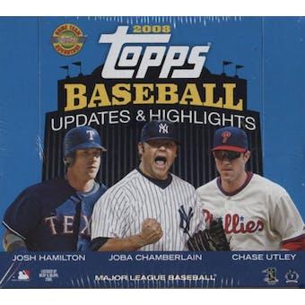2008 Topps Updates & Highlights Baseball Jumbo Box