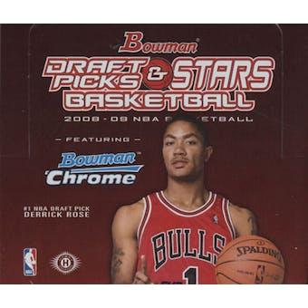 2008/09 Bowman Draft Picks & Stars Basketball Hobby Box