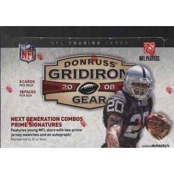 2008 Donruss Gridiron Gear Football Hobby Box
