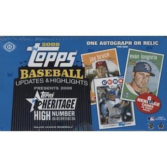 2008 Topps Heritage High Number Edition Baseball Hobby Box