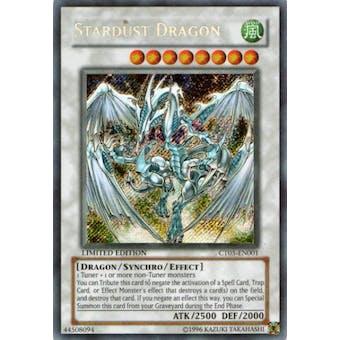 Yu-Gi-Oh Limited Edition Tin Single Stardust Dragon Secret Rare CT05