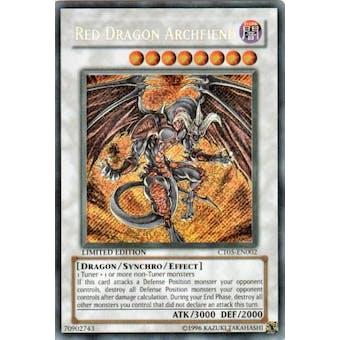 Yu-Gi-Oh Limited Edition Tin Single Red Dragon Archfiend Secret Rare CT05