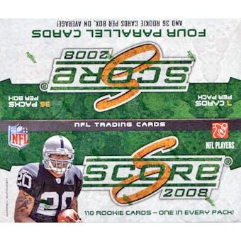 2008 Score Football 36-Pack Box