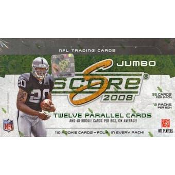 2008 Score Football Jumbo Box