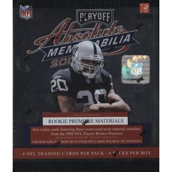 2008 Playoff Absolute Memorabilia Football Hobby Box