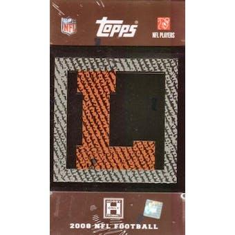 2008 Topps Letterman Football Hobby Box