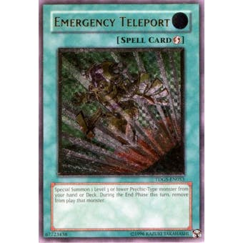 Yu-Gi-Oh Duelist Genesis Single Emergency Teleport Ultimate Rare - HEAVY PLAY (HP)