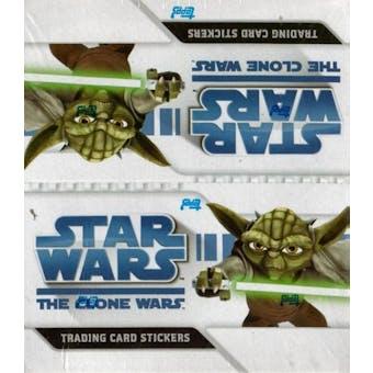 Star Wars Clone Wars Sticker Hobby Box (2008 Topps)