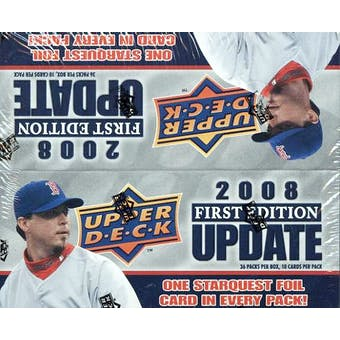2008 Upper Deck 1st Edition Update Baseball 36-Pack Box