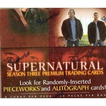 Supernatural Season 3 Hobby Box (2008 Inkworks)