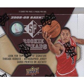 2008/09 Upper Deck SP Rookie Threads Basketball Hobby Box
